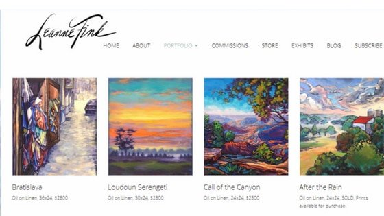 artists portfolio - Nevue Fine Art Marketing