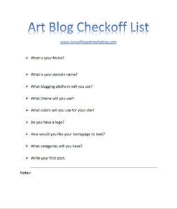 art blog checkoff list