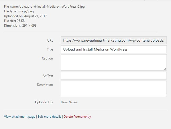 Upload and Install Media on WordPress