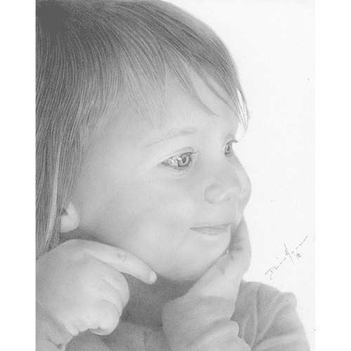 Toddler Portrait Commission Drawing