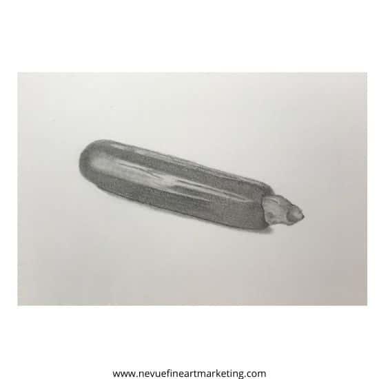 finnished zuchinni drawing