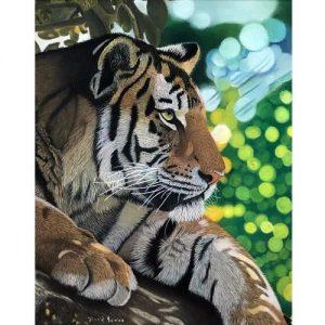 Siesta Tiger Pastel Painting